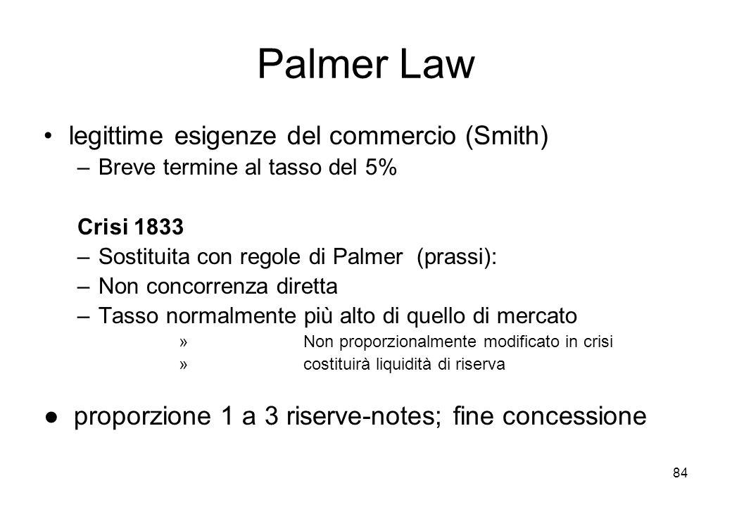 Palmer Law legittime esigenze del commercio (Smith)