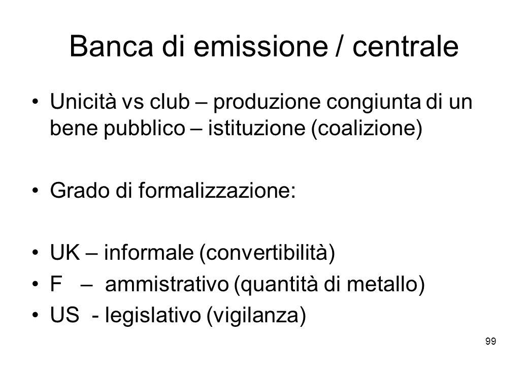 Banca di emissione / centrale
