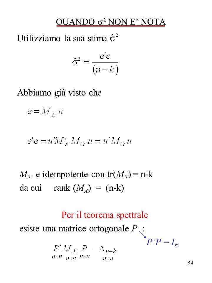 Per il teorema spettrale