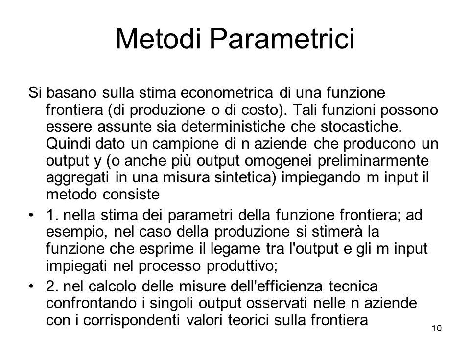 Metodi Parametrici