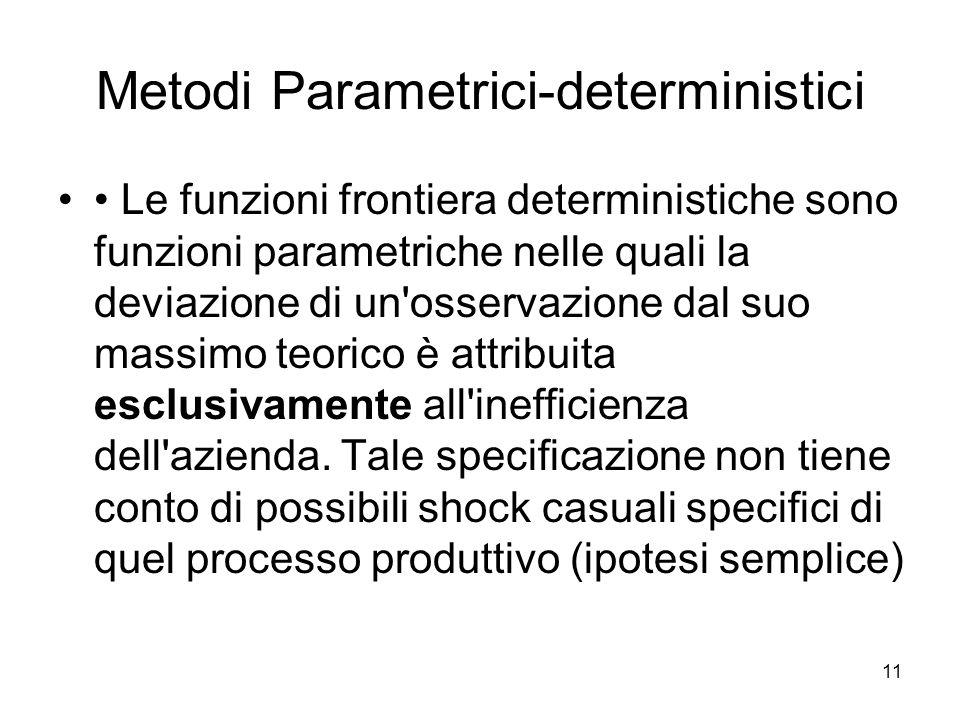 Metodi Parametrici-deterministici