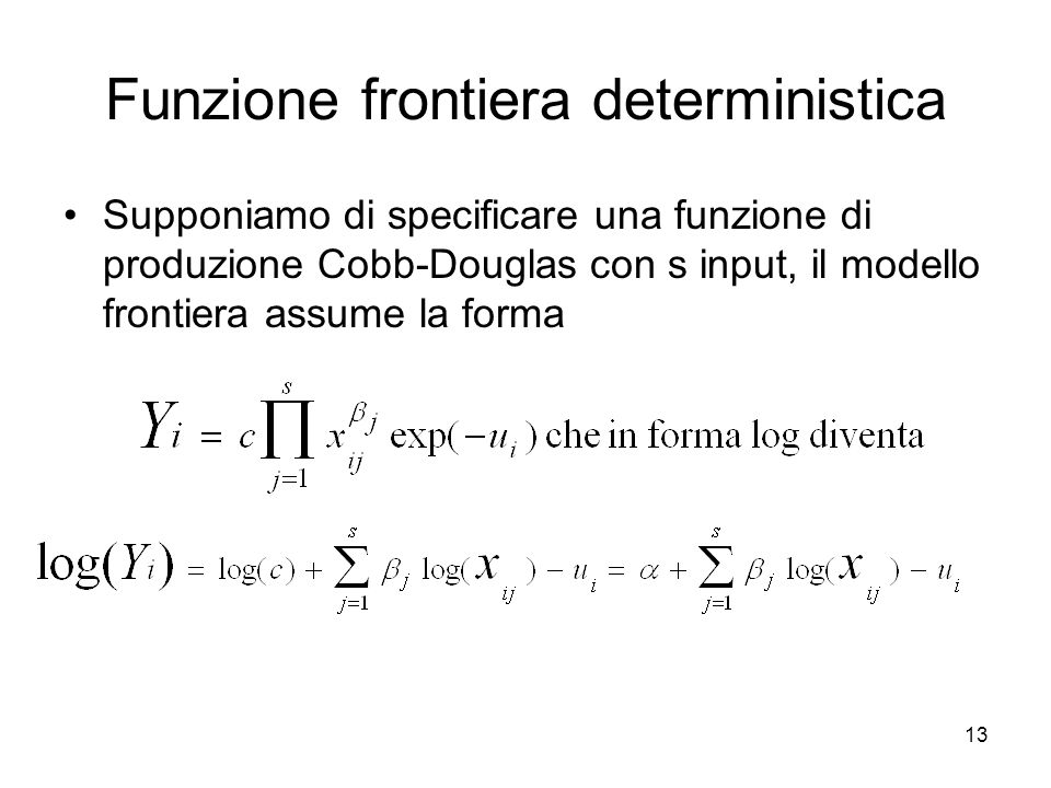 Funzione frontiera deterministica