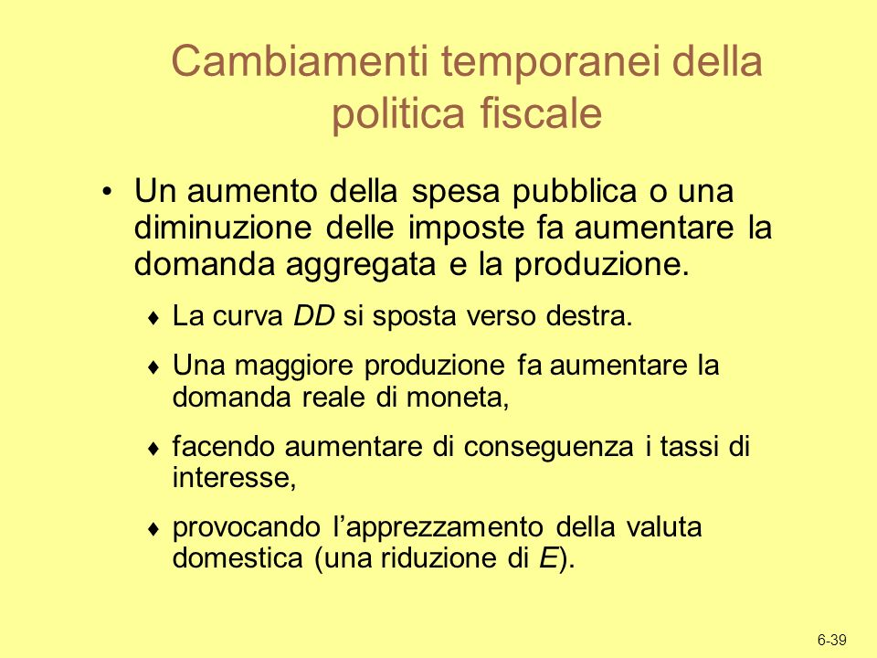 Cambiamenti temporanei della politica fiscale