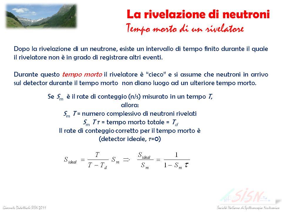 La rivelazione di neutroni Tempo morto di un rivelatore