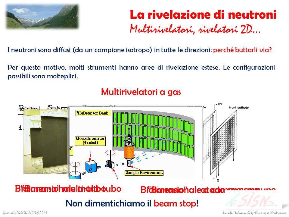 La rivelazione di neutroni Multirivelatori, rivelatori 2D…