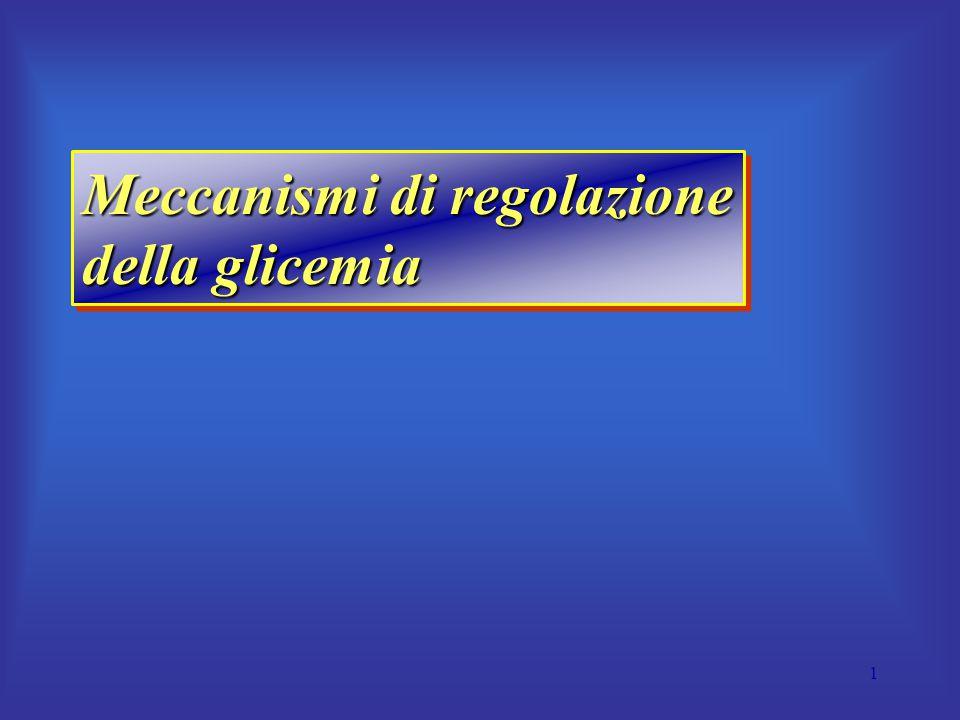Meccanismi di regolazione della glicemia