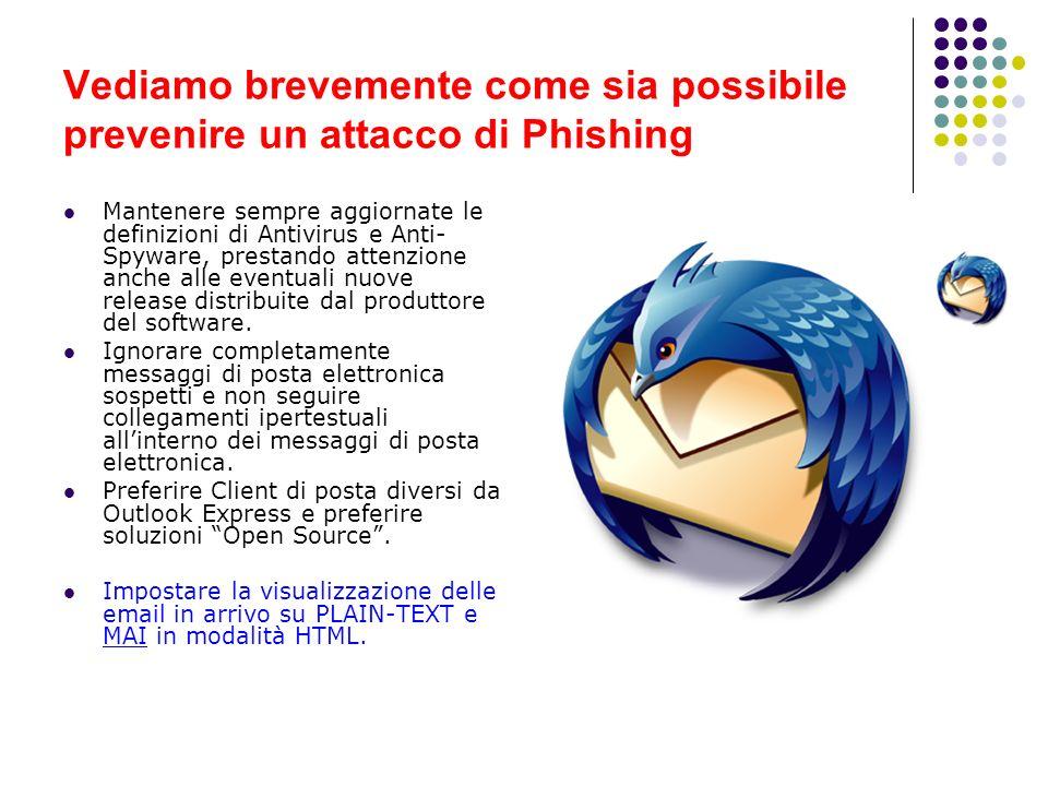 Vediamo brevemente come sia possibile prevenire un attacco di Phishing