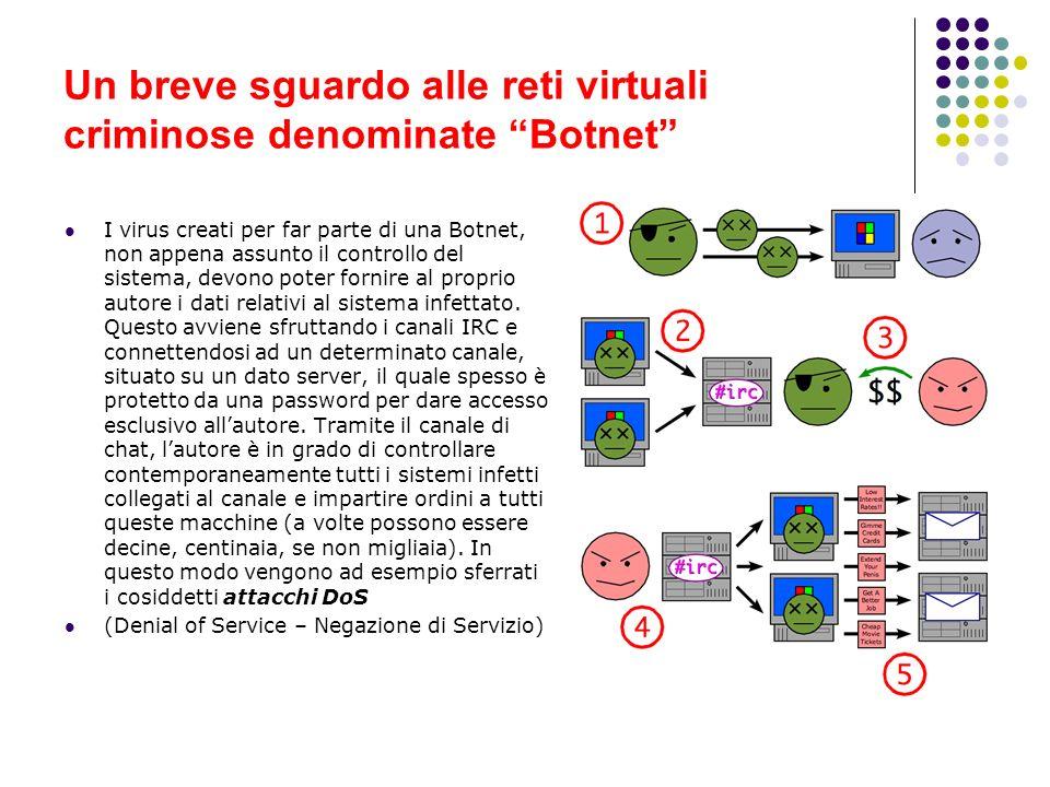 Un breve sguardo alle reti virtuali criminose denominate Botnet