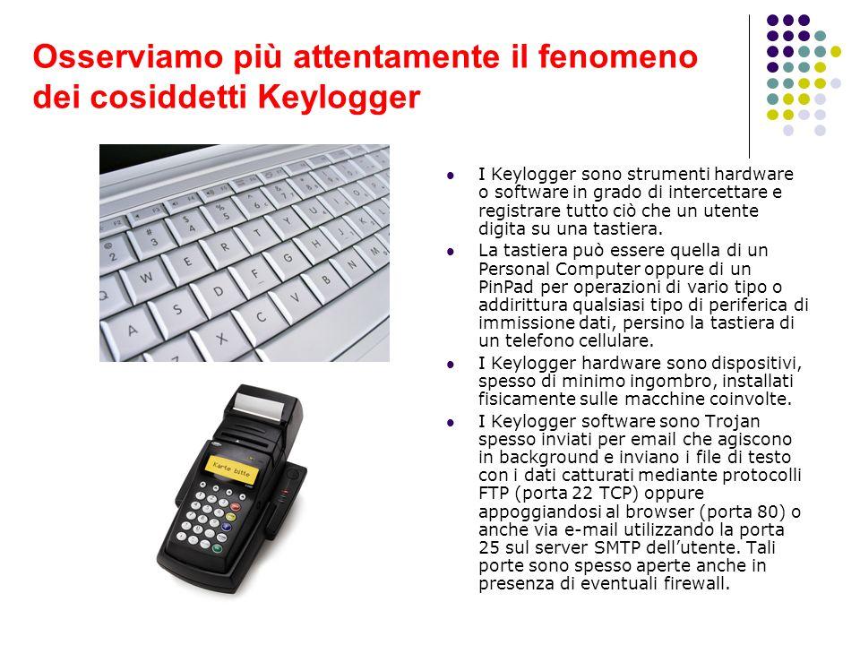 Osserviamo più attentamente il fenomeno dei cosiddetti Keylogger