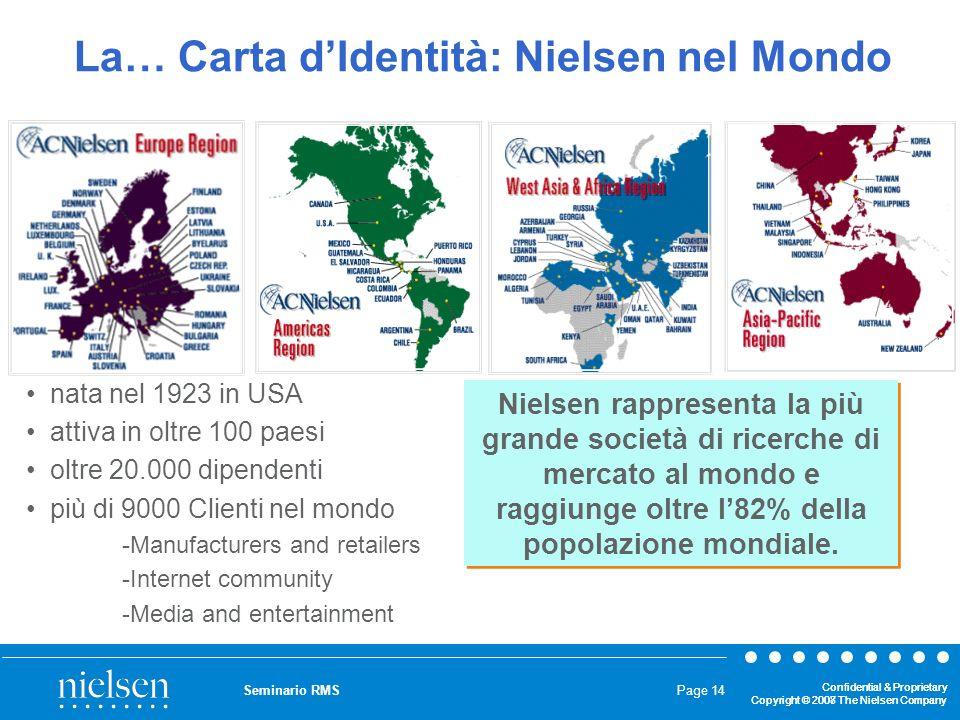 La… Carta d'Identità: Nielsen nel Mondo