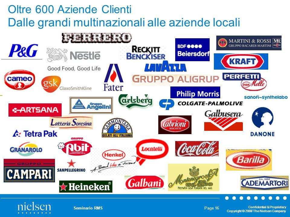 Oltre 600 Aziende Clienti Dalle grandi multinazionali alle aziende locali