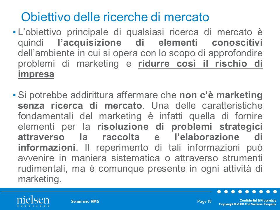 Obiettivo delle ricerche di mercato
