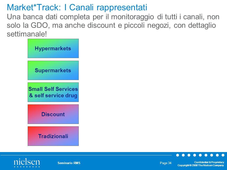 Market*Track: I Canali rappresentati Una banca dati completa per il monitoraggio di tutti i canali, non solo la GDO, ma anche discount e piccoli negozi, con dettaglio settimanale!