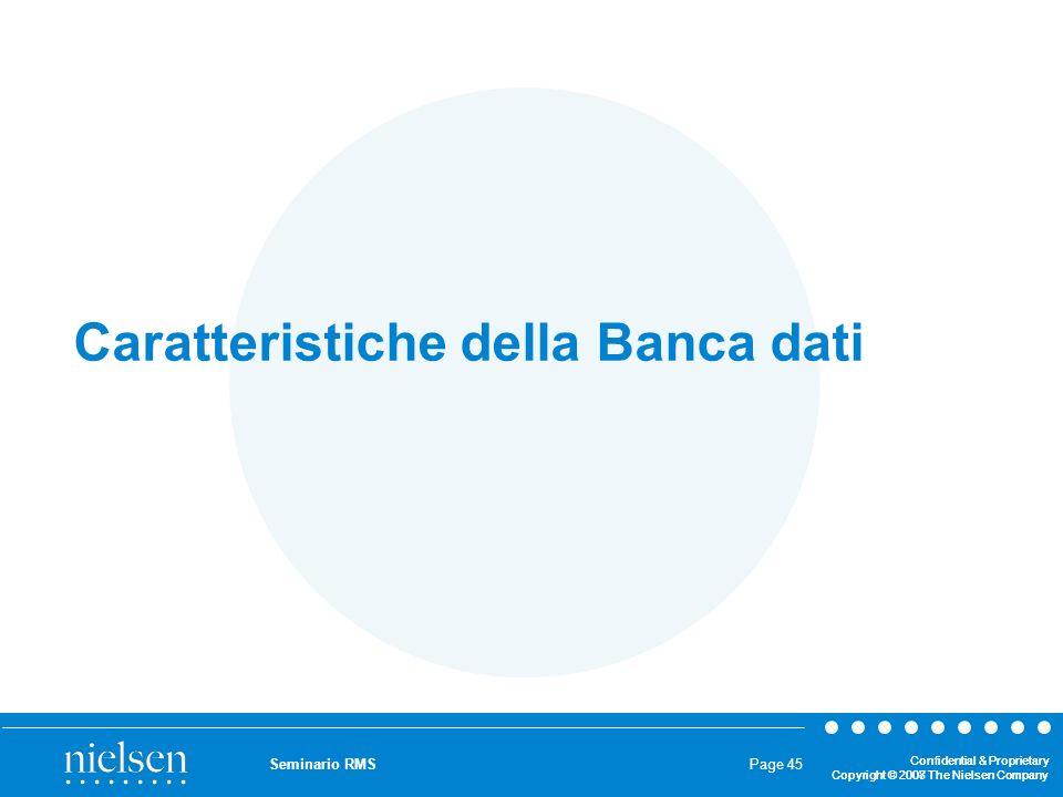 Caratteristiche della Banca dati