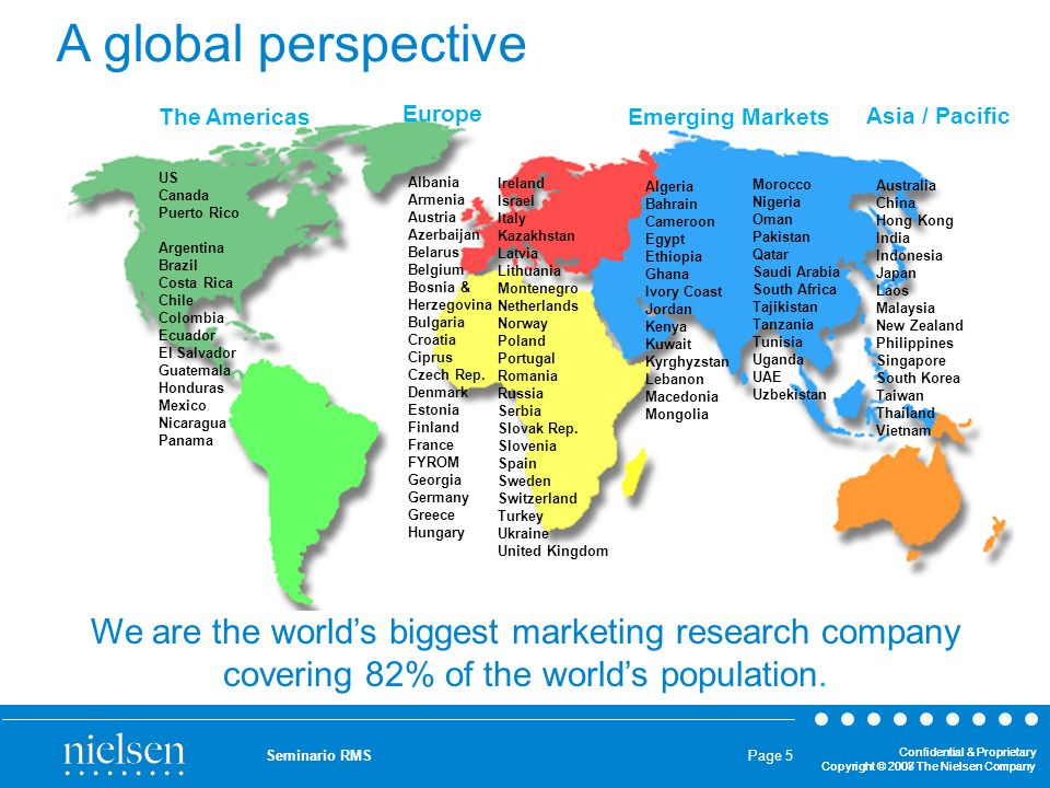 A global perspective The Americas. Europe. Emerging Markets. Asia / Pacific. US Canada. Puerto Rico.