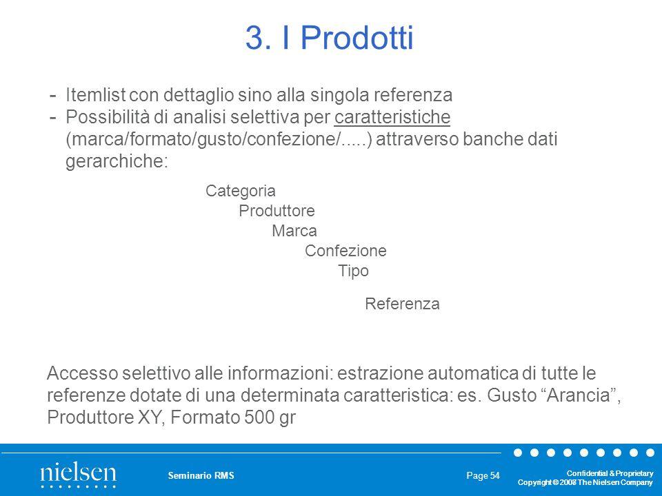 3. I Prodotti Itemlist con dettaglio sino alla singola referenza