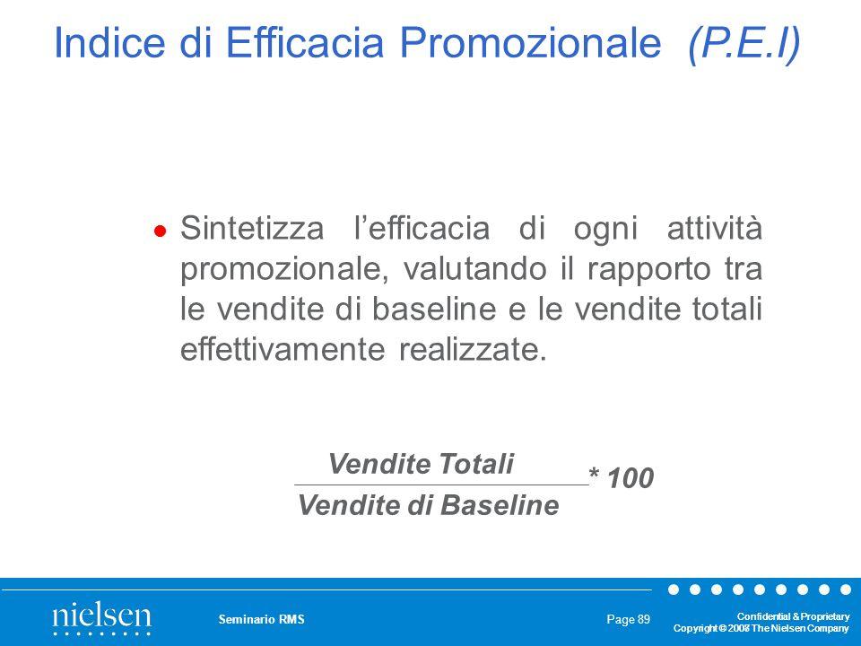 Indice di Efficacia Promozionale (P.E.I)