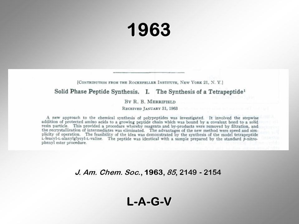 1963 J. Am. Chem. Soc., 1963, 85, 2149 - 2154 L-A-G-V