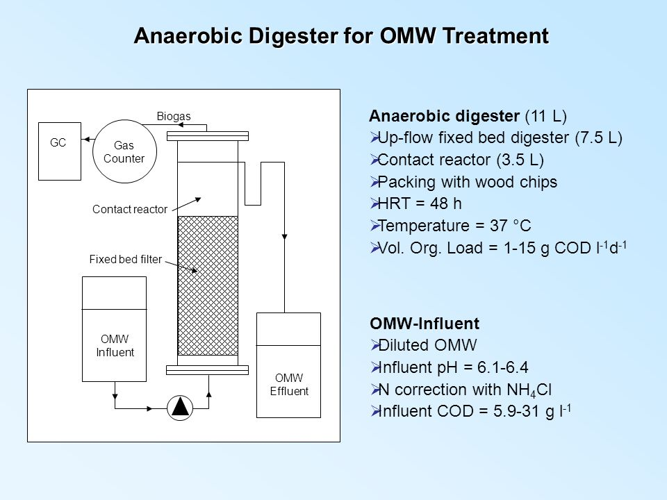 Anaerobic Digester for OMW Treatment