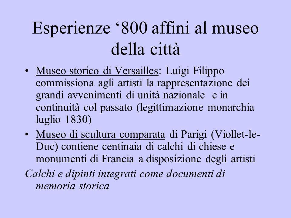 Esperienze '800 affini al museo della città