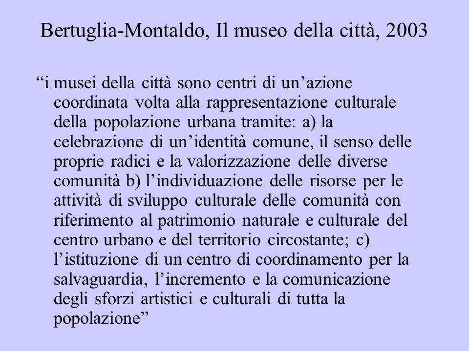 Bertuglia-Montaldo, Il museo della città, 2003