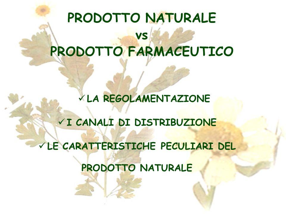 PRODOTTO NATURALE vs PRODOTTO FARMACEUTICO
