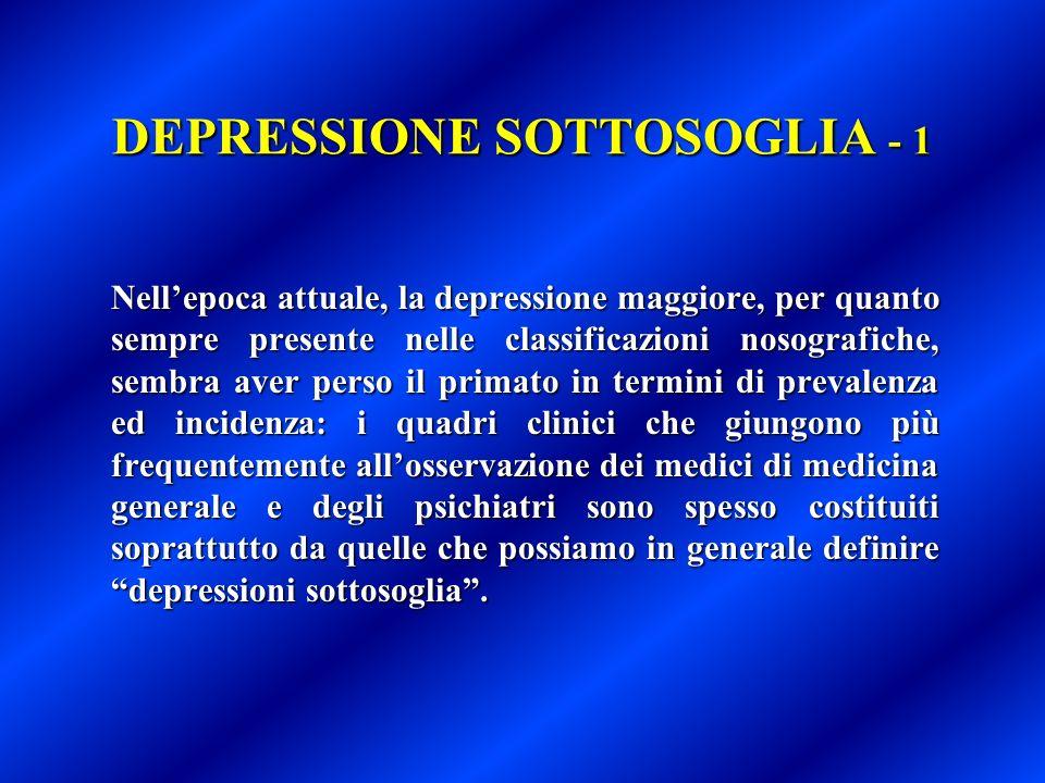 DEPRESSIONE SOTTOSOGLIA - 1