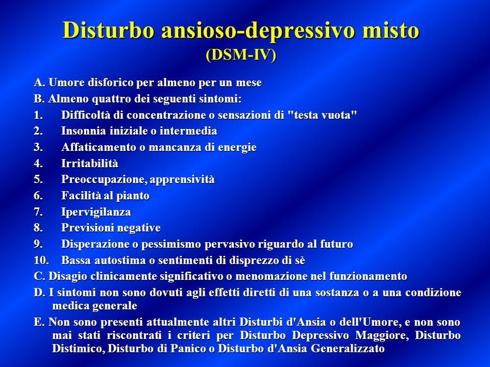 Disturbo ansioso-depressivo misto (DSM-IV)