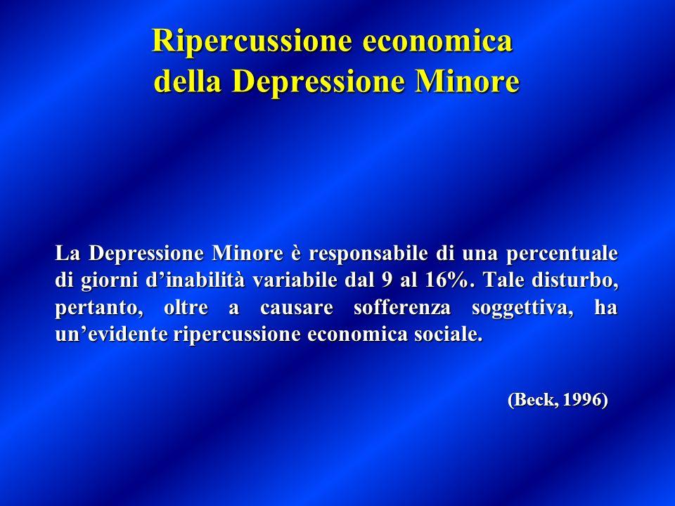 Ripercussione economica della Depressione Minore