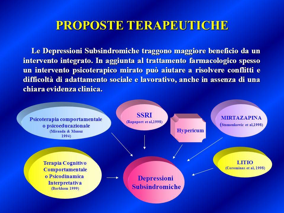 PROPOSTE TERAPEUTICHE