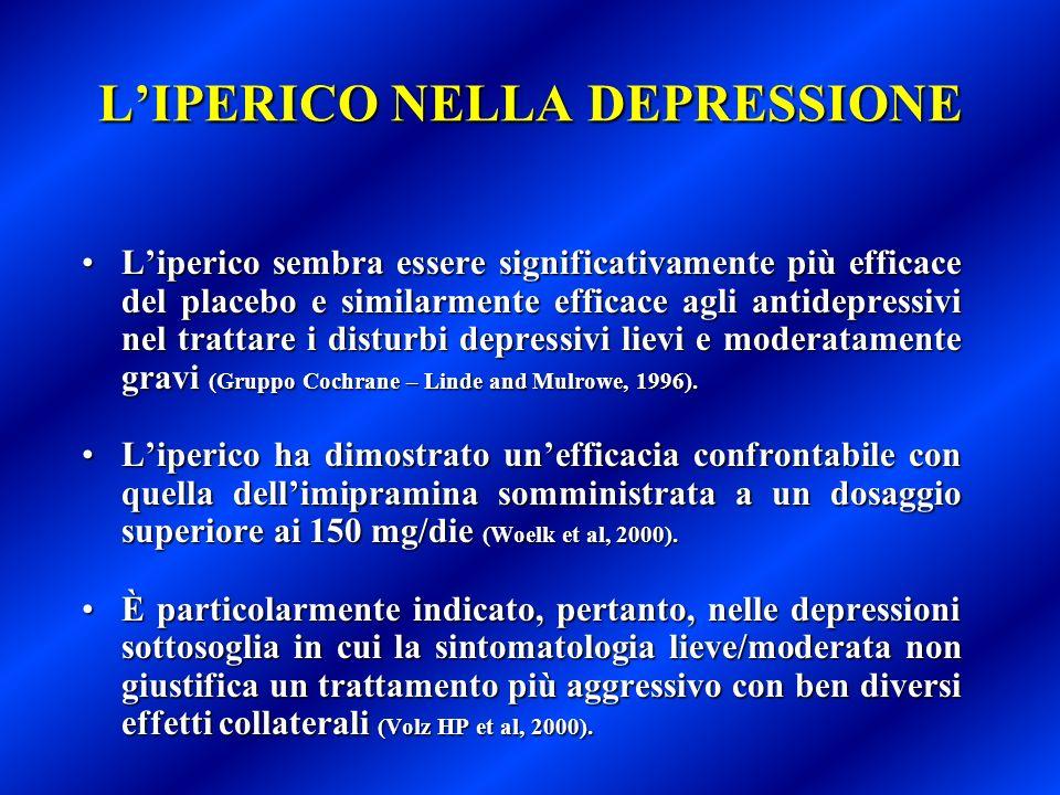 L'IPERICO NELLA DEPRESSIONE