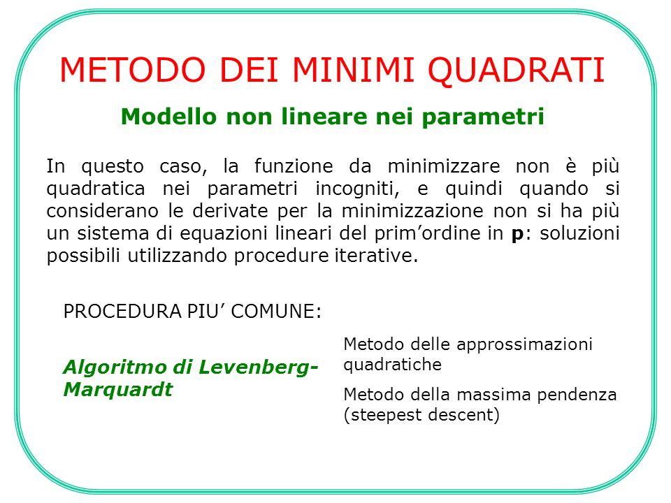 Modello non lineare nei parametri