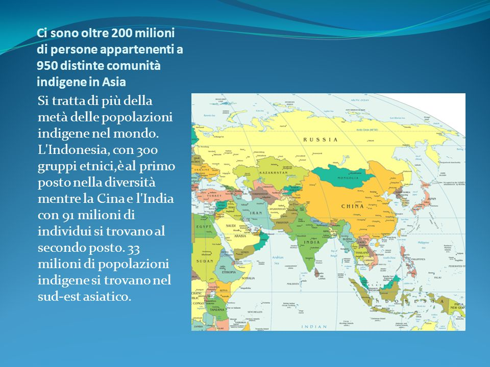 Ci sono oltre 200 milioni di persone appartenenti a 950 distinte comunità indigene in Asia