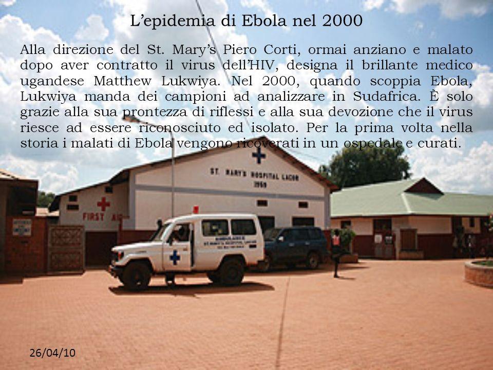 L'epidemia di Ebola nel 2000