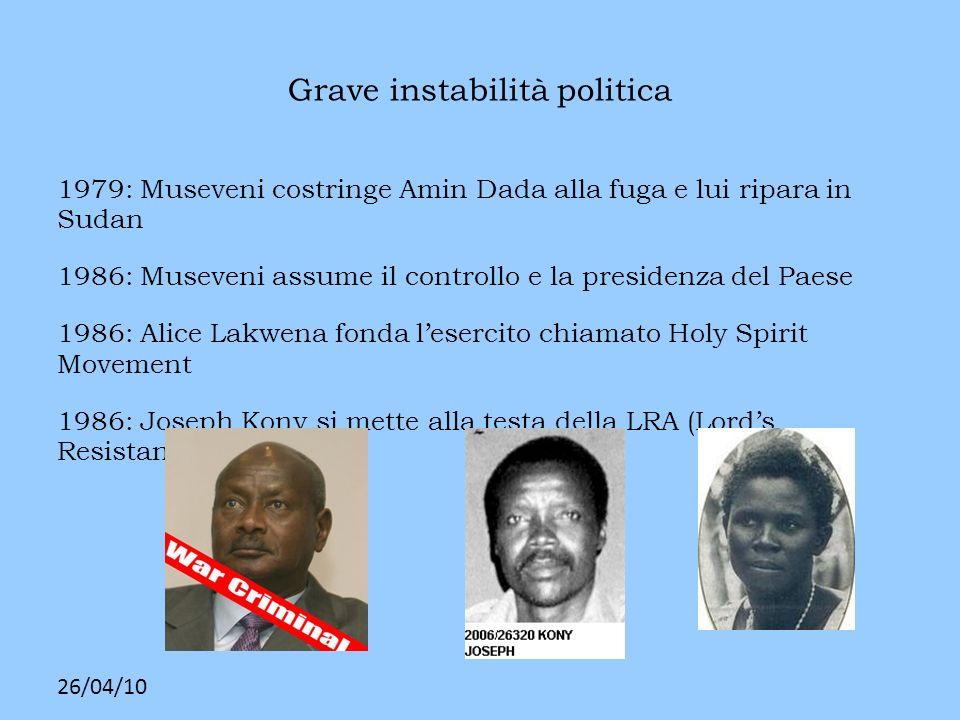 Grave instabilità politica