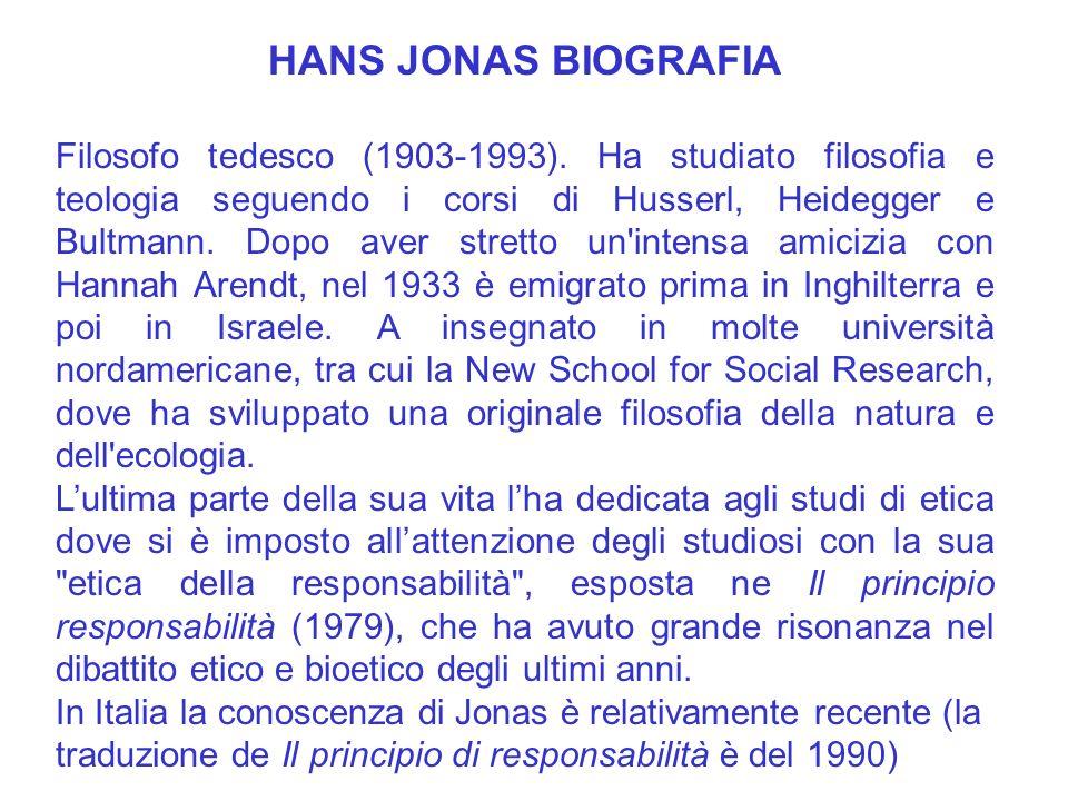 HANS JONAS BIOGRAFIA