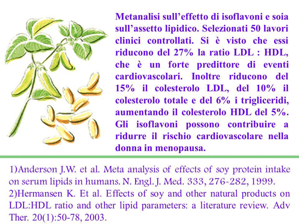 Metanalisi sull'effetto di isoflavoni e soia sull'assetto lipidico