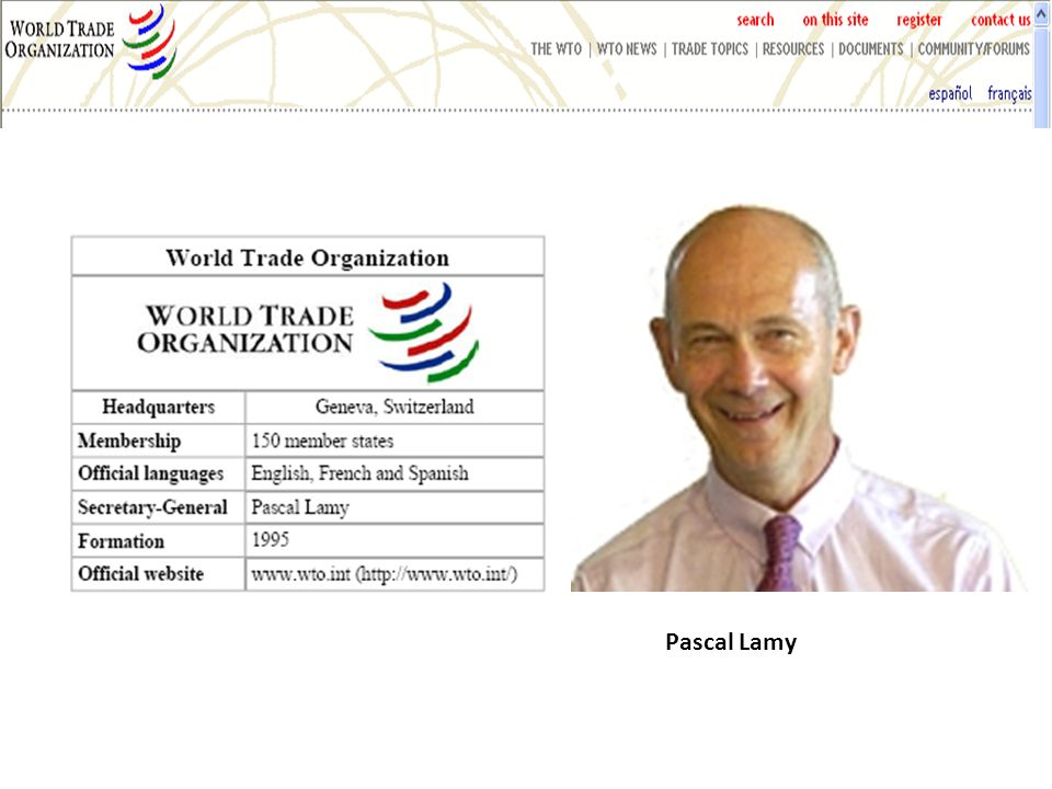 WTO: Mission Pascal Lamy