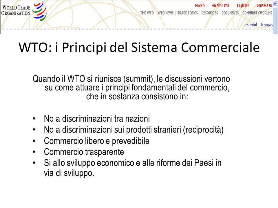 WTO: i Principi del Sistema Commerciale