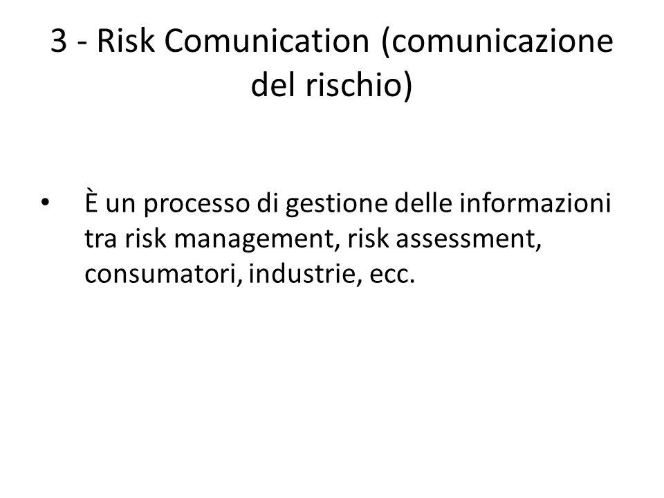 3 - Risk Comunication (comunicazione del rischio)