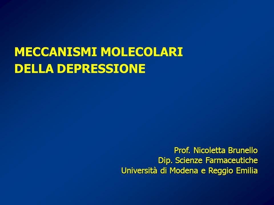 MECCANISMI MOLECOLARI DELLA DEPRESSIONE