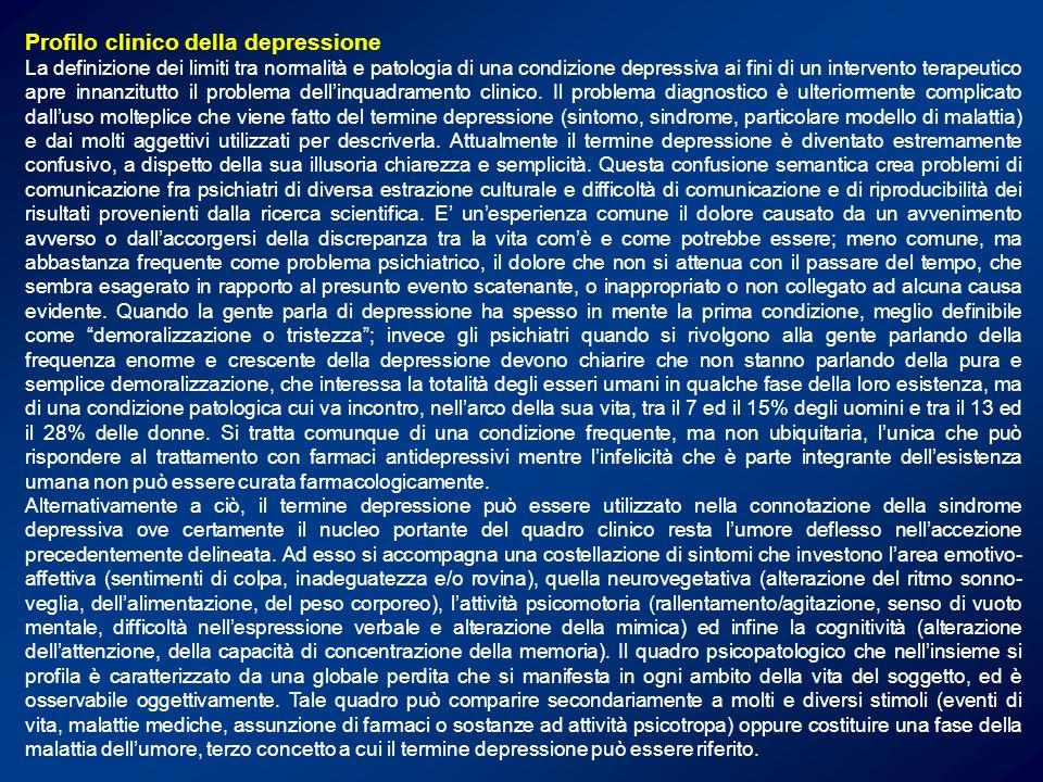 Profilo clinico della depressione