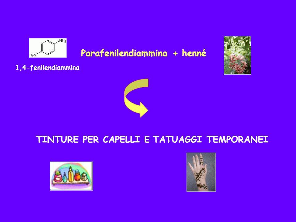 Parafenilendiammina + henné