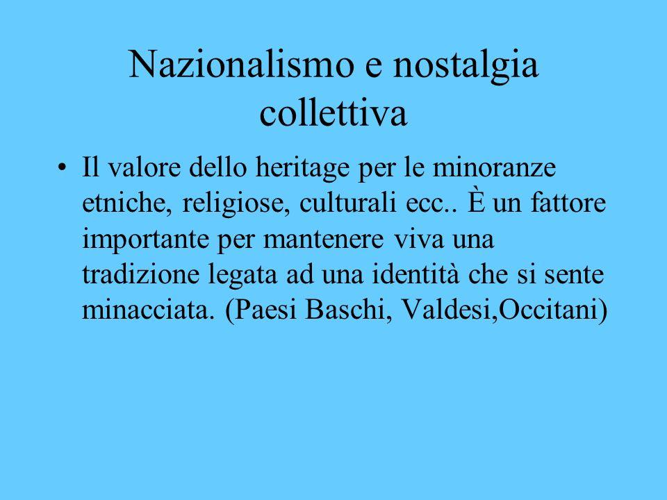 Nazionalismo e nostalgia collettiva