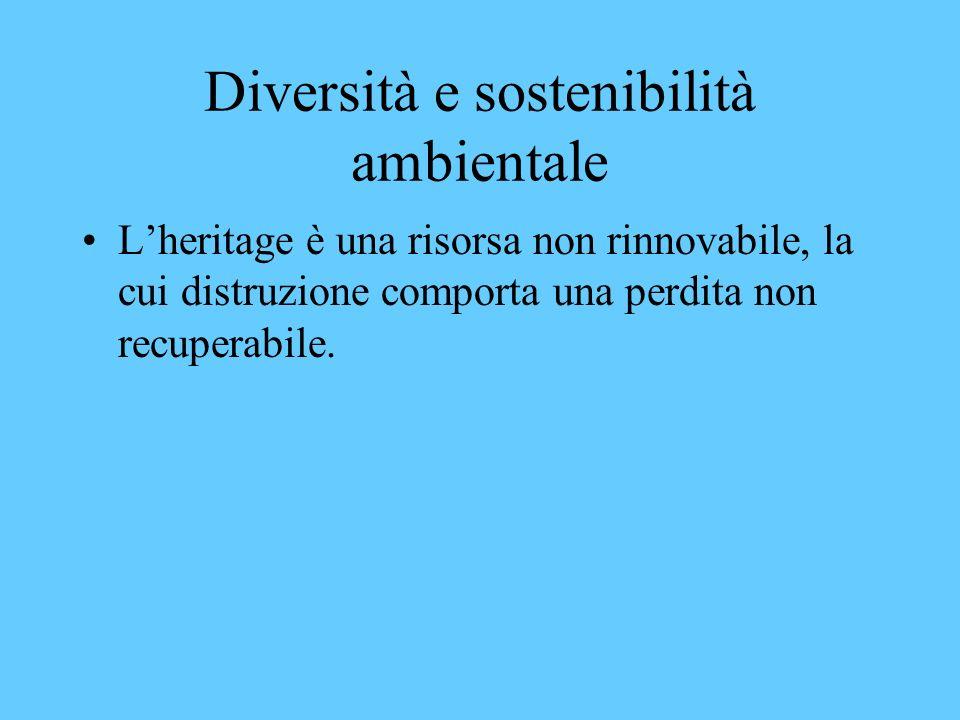 Diversità e sostenibilità ambientale