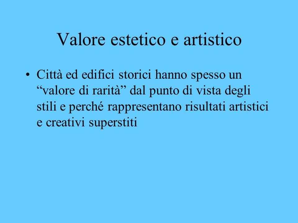 Valore estetico e artistico