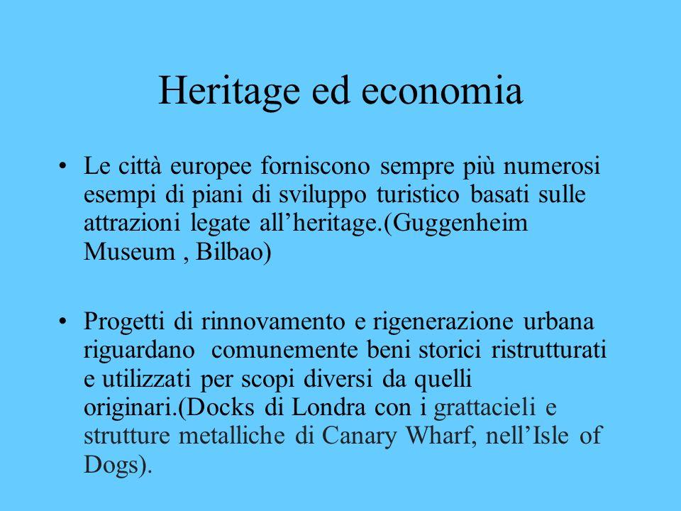 Heritage ed economia