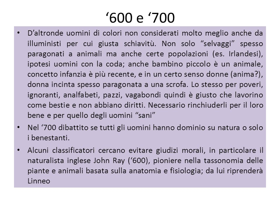 '600 e '700