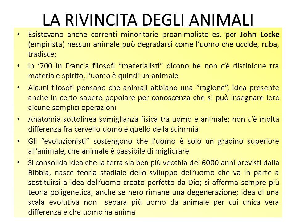 LA RIVINCITA DEGLI ANIMALI