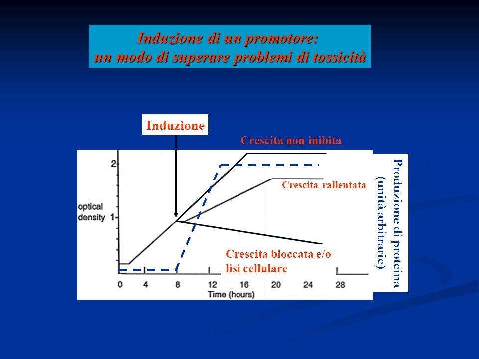 Induzione di un promotore: un modo di superare problemi di tossicità